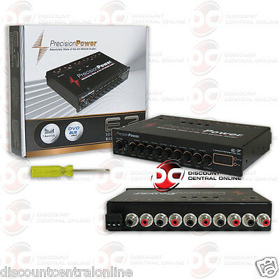 PRECISION POWER PPI E.7  CAR AUDIO 7-BAND PARAMETRIC EQUALIZER W/ LED DISPLAY