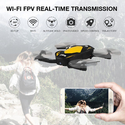 Foldable WIFI Drone 0.3MP Selfie Camera FPV Quadcopter 2.4G 6-Axis Toys Kid Gift