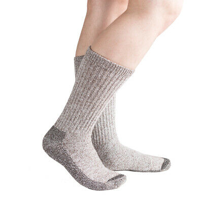 Doc Ortho Merino Wool Diabetic Socks, 2 Pairs, Brown, Crew