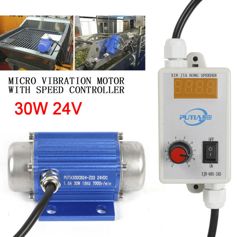 24V Micro Vibration Motor DC Brushless Motor with Speed Controller 30W USED