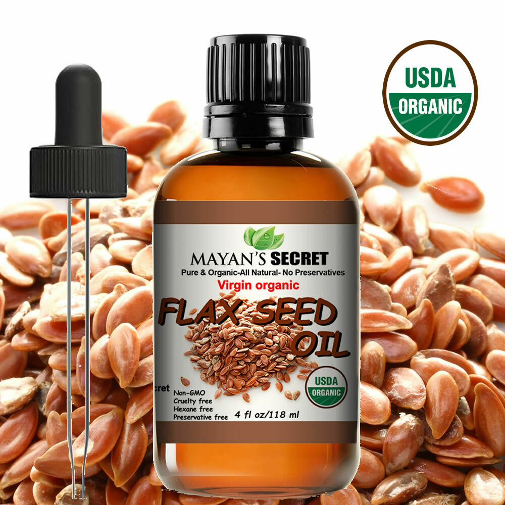 USDA Certified Virgin Organic Flax Seed Oil, Unrefined Virgin, Cold Pressed Health & Beauty
