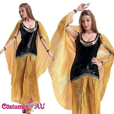 Ladies Cleopatra Cleo Egyptian Costume Roman Goddess Cosplay Fancy Dress Outfits - Goddess Outfits