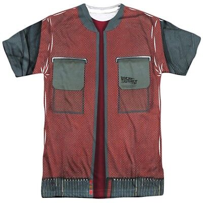 Back to the Future Marty McFly Jacket Costume Outfit Uniform Front T-shirt movie](Marty Mcfly Outfit)