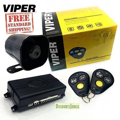 Viper 3100V One Way Car Security Alarm System W/ 2 Remotes Shock Sensor & Siren