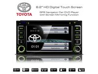 6.2 Inch HD Touch Screen Bluetooth SatNav Car DVD Player USB Aux Stereo For Toyota