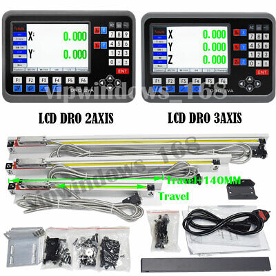 Lcd Dro Display 2axis3axis Digital Readout Linear Scale Sensor Encoder Cnc Mill