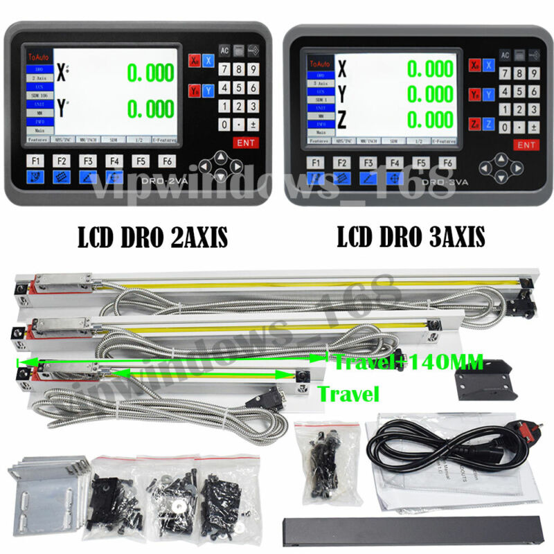 LCD Display Digital Readout Linear Scale Precision DRO Display CNC Milling Lathe
