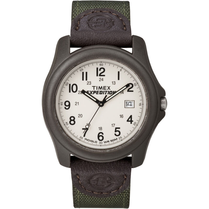 Timex Expedition Unisex Camper Brown/Olive Green  (T49101)