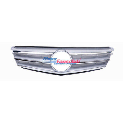 For Mercedes Benz C Class W204 Silver w/ Chrome Front Upper Grille C300 2008-14