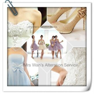 Wedding dress and bridesmaid dress alteration