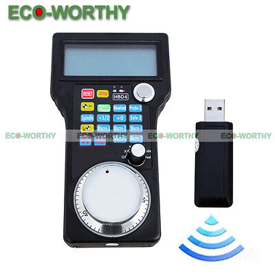 Wireless Electronic Handwheel Mpg Pendant For Usb Cnc 34 Axis Engraving Us