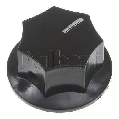 2pcs MF-B03 New Vintage Mixer Knob Black with White Stripe 6 mm Hard Plastic