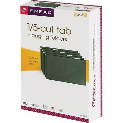 Smead - Folder - Premium-Quality Hanging Folders, 1/5 Cut, Legal Size, Standard - $43.24