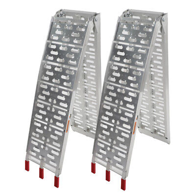 New 7.5 ft Aluminum ATV Truck Loading Ramps, Arched Bi-Fold Ramps (Arched Aluminum Folding Ramp)