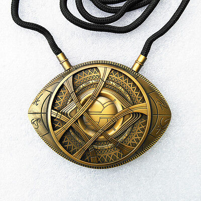 Us Ship Dr Doctor Strange Pendant Eye Of Agamotto Necklace Cosplay Pendent New
