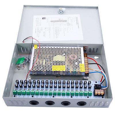 18CH Power Supply Distribution Box Security DC 24V 10A for CCTV Camera System