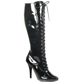 Pleaser High Heel Patent Leather Boots