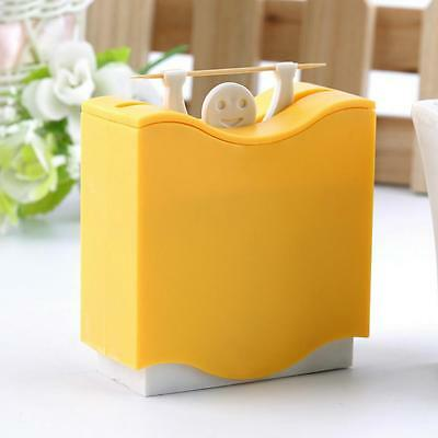 (Plastic Automatic Toothpick Dispenser Bucket Holder Table Accessories Box)