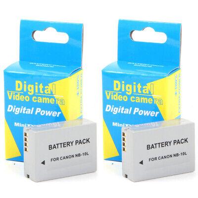 2x Baterias NB-10L NB10L 1300mAh para Canon Powershot SX60 HS, G3 X,...