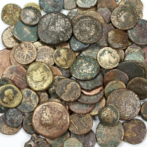 Uncleaned Greek + Greek Imperial Ancient Coin. c.400 B.C. - 250 A.D. $6.99 each!