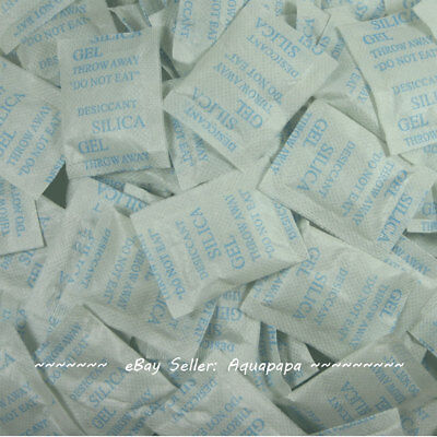 100 Packets 2 Gram Silica Gel Desiccant Non Toxic Moisture Absorber Ship From Us