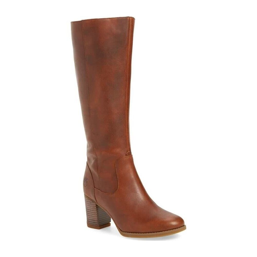 NWT Timberland Women's Atlantic Heights Tall Waterproof Boots Brown & Black New 1