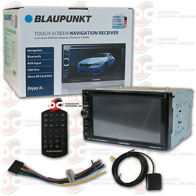 """BLAUPUNKT CAR AUDIO 2-DIN 6.2"""" TOUCHSCREEN DVD CD PLAYER WITH GPS AND BLUETOOTH"""