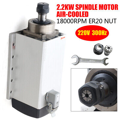 2.2kw Electric Spindle Motor Air-cooled Er20 Gdf Cnc Engraving 18000 Rev Min