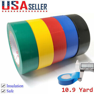 32ft Pvc Electrical Tape 0.7 Wide Connection Insulation Wiring Tapes 5 Rolls