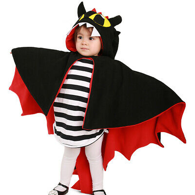 Kids Dragon Little Devil Cosplay Costume Halloween Cloak Cape Outfit Boys Girls](Little Girls Halloween Outfits)