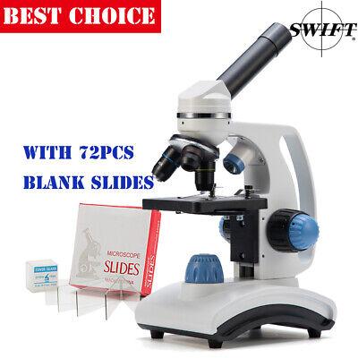 Swift Kid Sw100 40x-1000x Compound Microscope Beginner Science Dual Lightslides