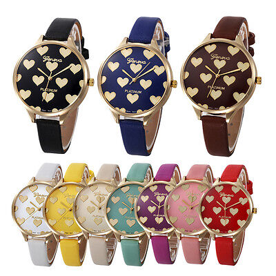 Women Casual Checkers Faux Leather Stainless Steel Quartz Analog Wrist Watch