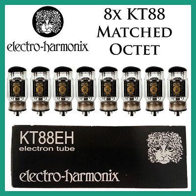 New 8x Electro Harmonix KT88   Matched Octet / Eight   Power Tubes   Free Ship