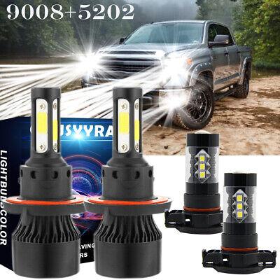 For 2007-2013 Gmc Yukon Denali 6000K LED Headlight Lamps High Low Fog Light Kit