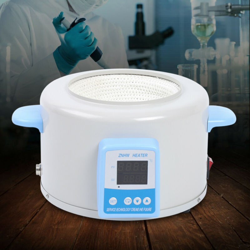 Electric Digital Display Stirring Heating Mantle 1000ml Medicine Lab US