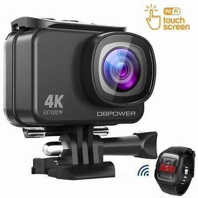 DBPOWER EX7000 Sports Action Camera 4K 14MP Waterproof Camera Remote Control