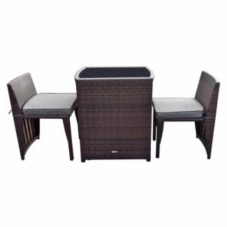 Luxo Lucia Nesting PE Wicker Outdoor Leisure Setting   Brown. $259.95. Seven  Hills Part 4