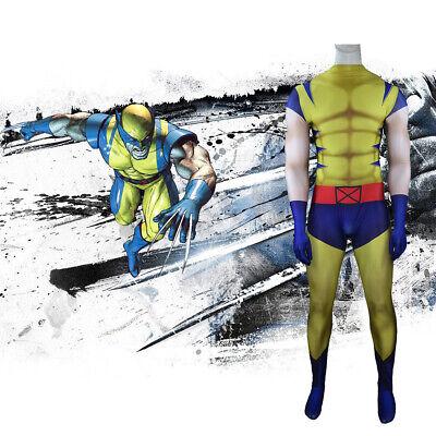 X-Men Wolverine Jumpsuit Logan Howlett Cosplay Costume For Adult Kids Halloween](Wolverine Halloween Costume Kids)