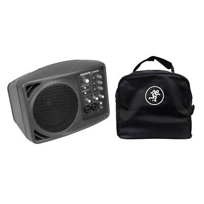 "Mackie SRM150 5"" Compact Active PA System Mackie Speaker Bag For SRM150 & C300z"