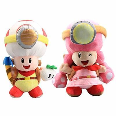 Super Mario Bros. Captain Toad & Toad Brigade Toadette Plush Toys 8'' 2 pcs](Toad Super Mario)