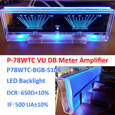 Vu Panel Meter Analog Amplifier Audio Power Level Indicator Backlight Db Table