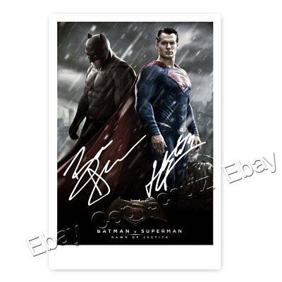 Ben Affleck /  Batman & Henry Cavil / Superman -  Justice League - Autogrammfoto
