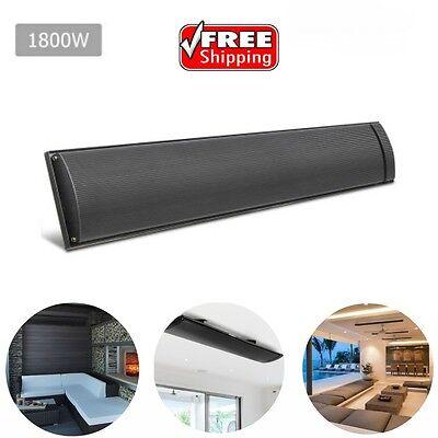 1800W Radiant Heater Wall Ceiling Mounted Heating Slimsline Indoor Outdoor Gafe