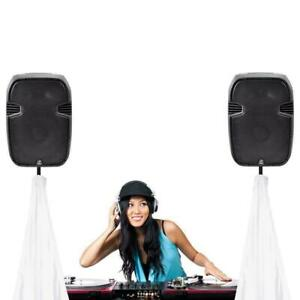 DJ Speaker / Light Stand Scrim, Universal Compatibility & Mountable, for Tripod Stands, 2 Sided (Black)