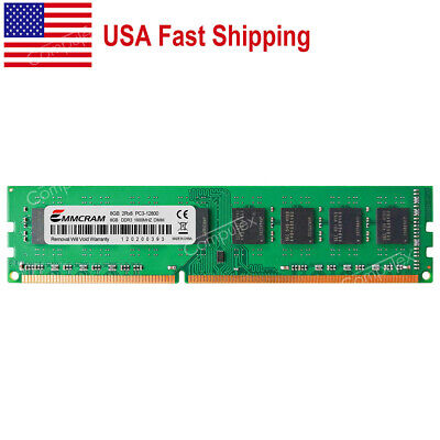 US 8GB PC3-12800 DDR3-1600 240Pin DIMM Desktop Memory For Dell HP Lenovo Acer MB