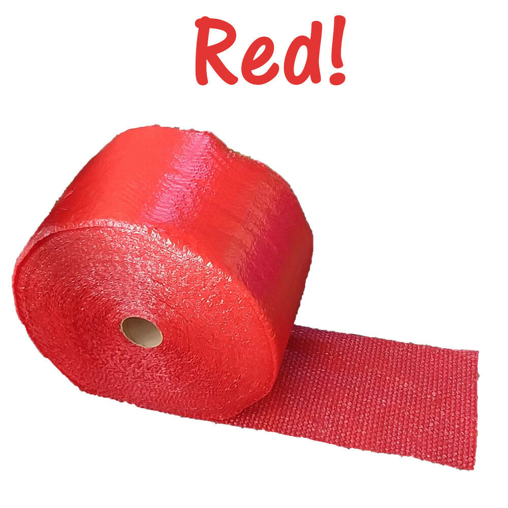 "3 Colors! 3/16"" Perforated Cushioning Colored Bubble Wrap Roll Packaging 12x12"""
