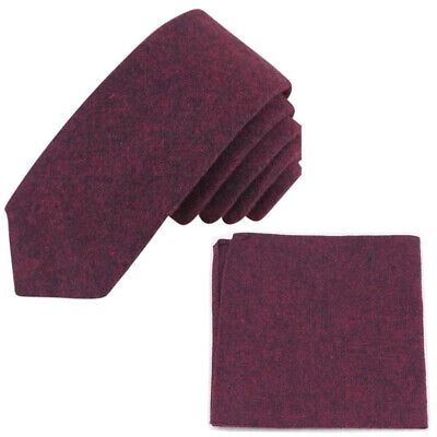 Red Pocket Review (New Burgundy Red Cotton Skinny Tie & Pocket Square Set. Great Quality &)