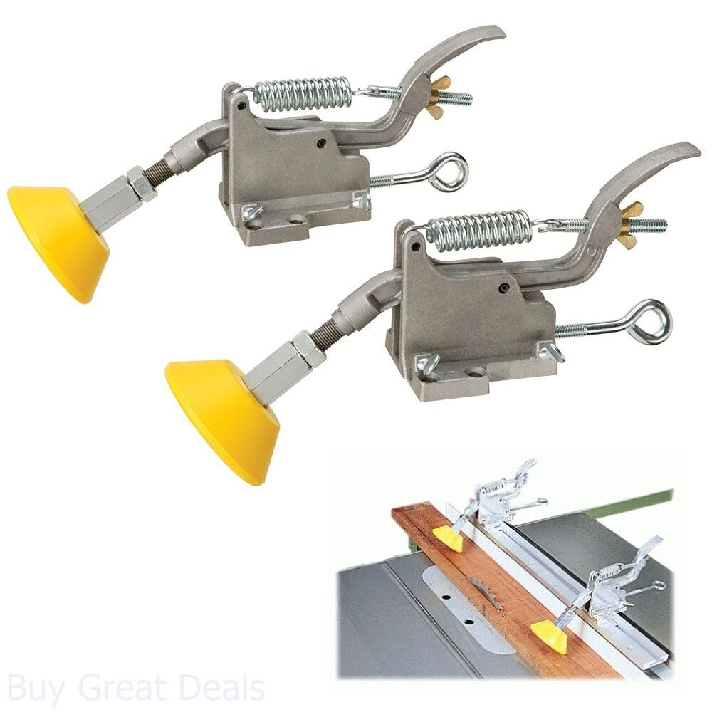Details about Woodstock W9 Board Buddies, Adjustable Aluminum Table Saw  Accessories, Yellow
