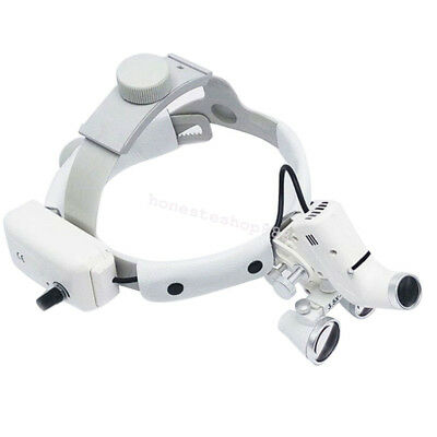 Us Dental Surgical Binocular Loupes Headband Magnifier With Led Light 3.5x 420mm