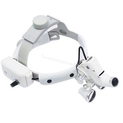 Us Dental Surgical Binocular Loupes Headband Magnifier With Led Light 3.5x 420mm